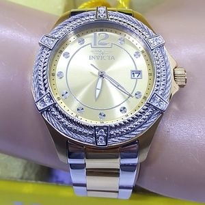 FIRM PRICE-Invicta Bolt two tone ladies watch